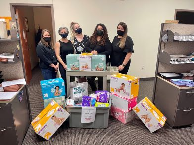 Employees Collect Items in Honor of National Child Abuse Prevention Month and National Sexual Assault Awareness Month